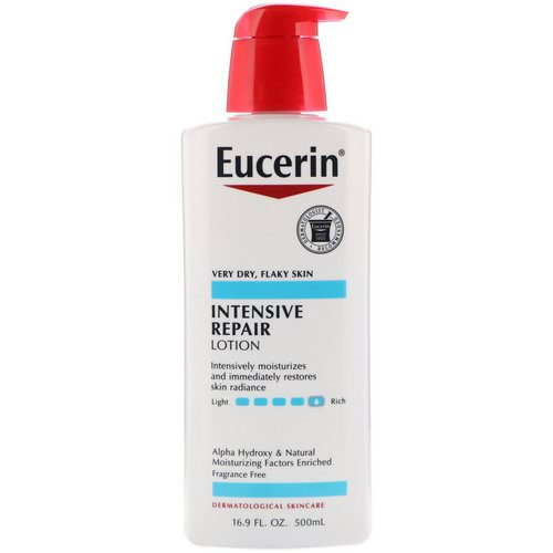Eucerin, Intensive Repair Lotion, Fragrance Free, 16.9 fl oz (500 ml) فوائد