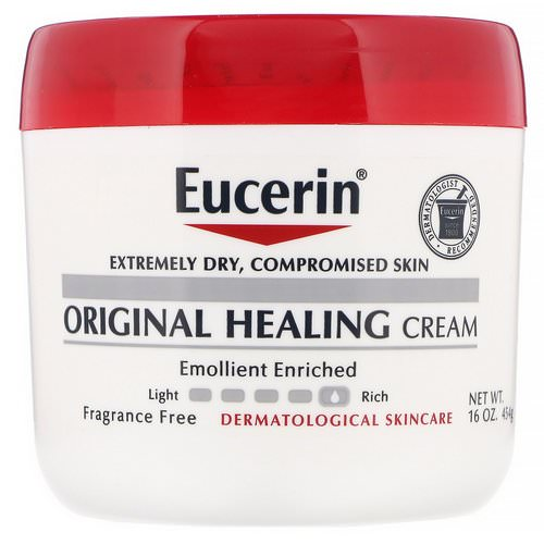 Eucerin, Original Healing Cream, For Extremely Dry, Compromised Skin, Fragrance Free, 16 oz (454 g) فوائد