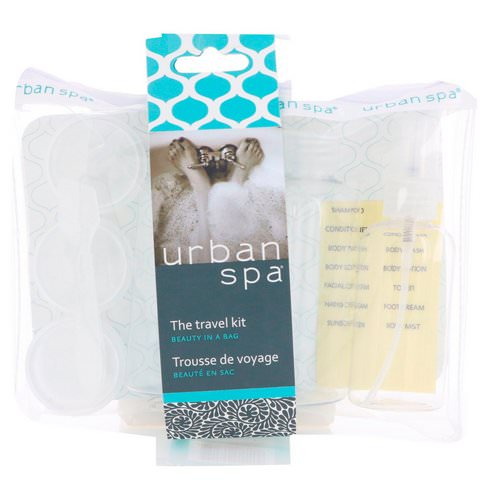 European Soaps, Urban Spa, The Travel Kit, 7 Piece Kit فوائد