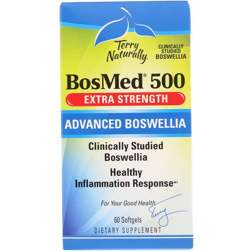 EuroPharma, Terry Naturally, BosMed 500, Extra Strength, Advanced Boswellia, 500 mg, 60 Softgels فوائد