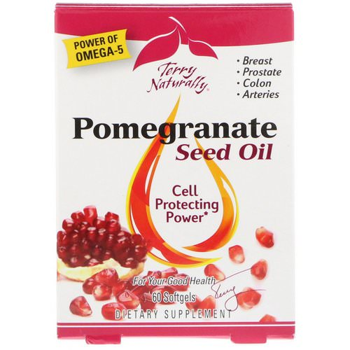EuroPharma, Terry Naturally, Pomegranate Seed Oil, 60 Softgels فوائد