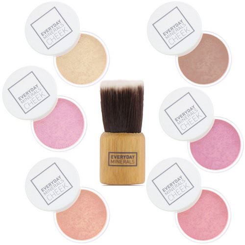 Everyday Minerals, Cheek to Cheek, Blush & Highlighter Palette, 7 Piece Set فوائد