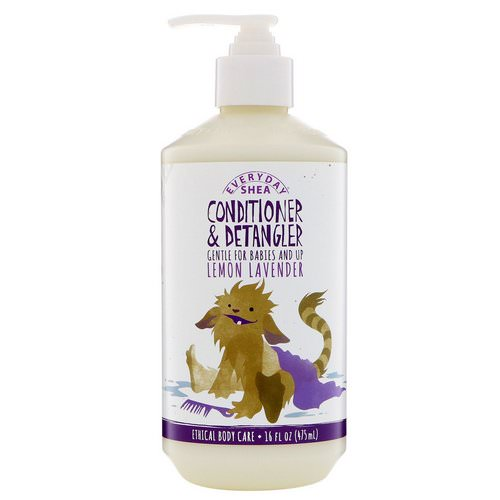 Alaffia, Everyday Shea, Conditioner & Detangler, Gentle for Babies and Up, Lemon Lavender, 16 fl oz (475 ml) فوائد