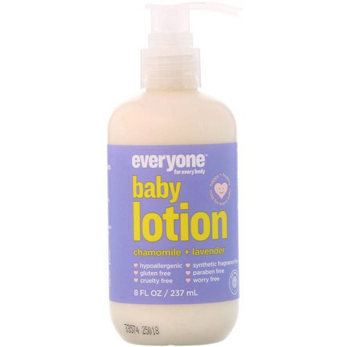 Everyone, Baby Lotion, Chamomile + Lavender, 8 fl oz (237 ml) فوائد