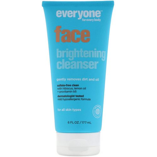 Everyone, Face Brightening Cleanser, 6 fl oz (177 ml) فوائد