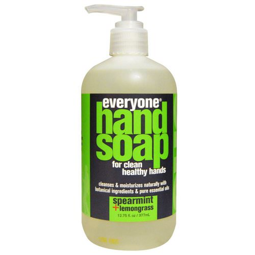 Everyone, Hand Soap, Spearmint + Lemongrass, 12.75 fl oz (377 ml) فوائد
