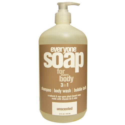 Everyone, Soap For Everybody 3 in 1, Unscented, 32 fl oz (946 ml) فوائد