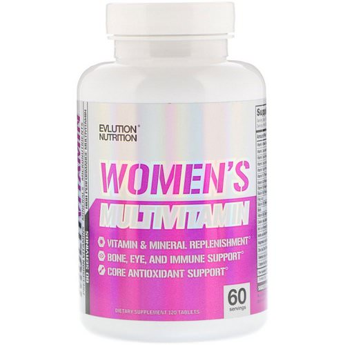 EVLution Nutrition, Women's Multivitamin, 120 Tablets فوائد