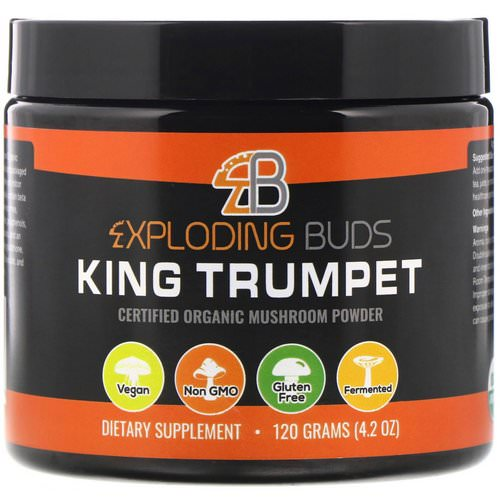 Exploding Buds, King Trumpet, Certified Organic Mushroom Powder, 4.2 oz (120 g) فوائد