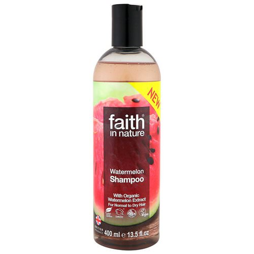 Faith in Nature, Shampoo, For Normal to Dry Hair, Watermelon, 13.5 fl oz (400 ml) فوائد