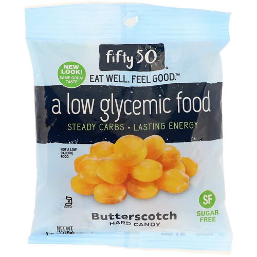 Fifty 50, Low Glycemic Hard Candy, Butterscotch, 2.75 oz (78 g) فوائد