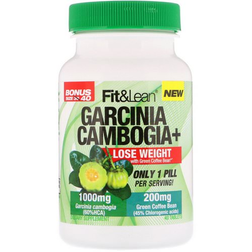 Fit & Lean, Garcinia Cambogia+, 40 Tablets فوائد