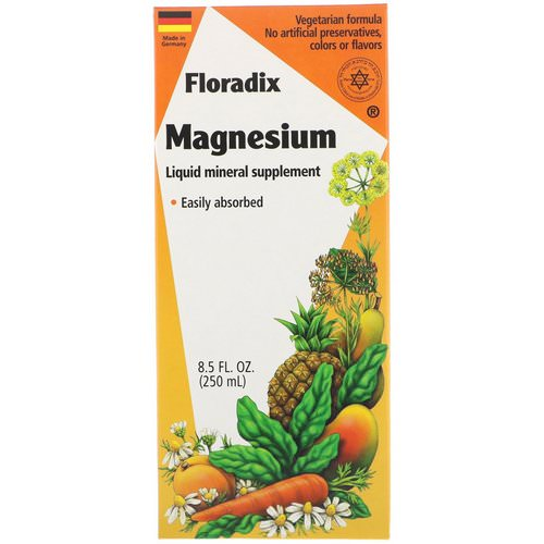 Flora, Floradix, Magnesium, Liquid Mineral Supplement, 8.5 fl oz (250 ml) فوائد