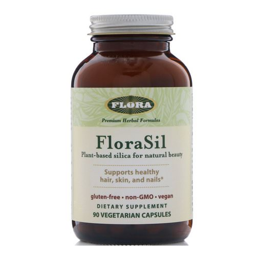Flora, FloraSil, Plant Based Silica for Natural Beauty, 90 Veggie Caps فوائد