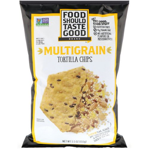 Food Should Taste Good, Multigrain Tortilla Chips, 5.5 oz (155 g) فوائد