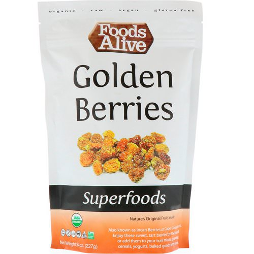 Foods Alive, Superfoods, Golden Berries, 8 oz (227 g) فوائد