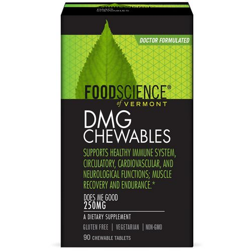 FoodScience, DMG Chewables, 250 mg, 90 Chewable Tablets فوائد