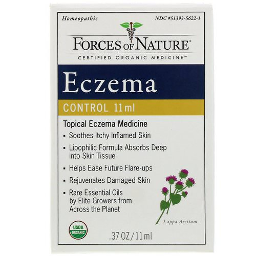 Forces of Nature, Eczema Control, 0.17 oz (5 ml) فوائد