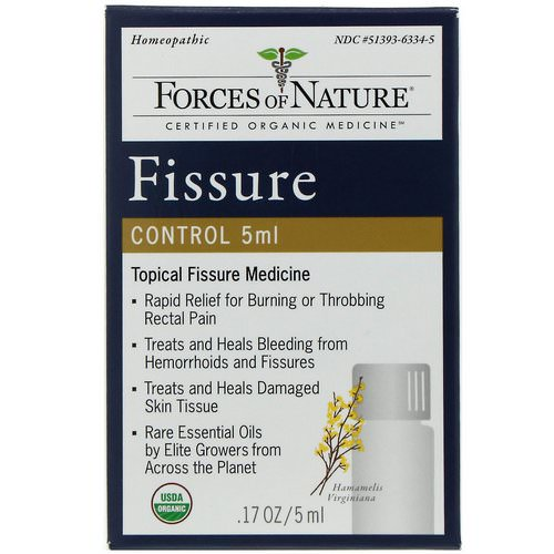Forces of Nature, Fissure Control, .17 oz (5 ml) فوائد