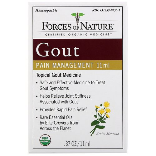 Forces of Nature, Gout Pain Management, 0.37 oz (11 ml) فوائد