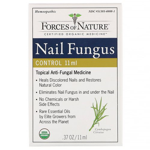 Forces of Nature, Nail Fungus Control, 0.37 oz (11 ml) فوائد