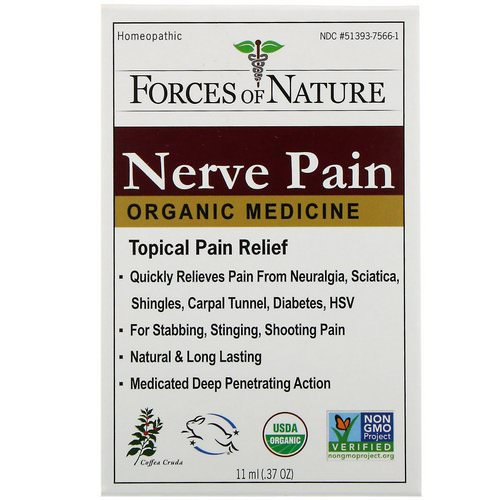 Forces of Nature, Nerve Pain, Organic Medicine, 0.37 oz (11 ml) فوائد