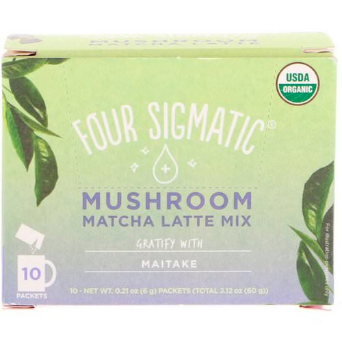 Four Sigmatic, Mushroom Matcha Latte Mix, 10 Packets, 0.21 oz (6 g) Each فوائد