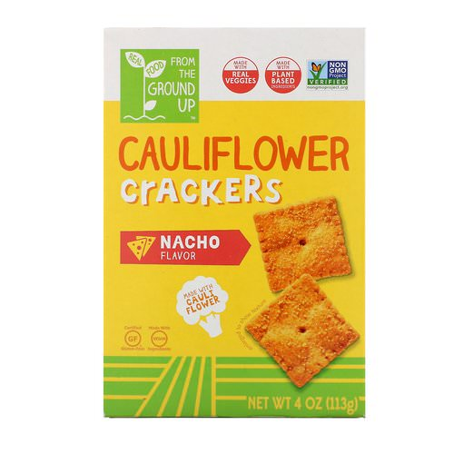 From The Ground Up, Cauliflower Crackers, Nacho, 4 oz (113 g) فوائد