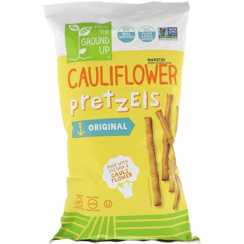 From The Ground Up, Cauliflower Pretzels, Original, 4.5 oz (128 g) فوائد