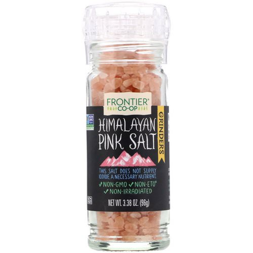 Frontier Natural Products, Himalayan Pink Salt Grinder, 3.38 oz (96 g) فوائد