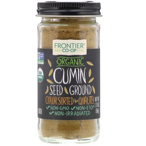 Frontier Natural Products, Organic Cumin Seed, Ground, 1.76 oz (50 g) فوائد