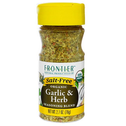 Frontier Natural Products, Organic Garlic & Herb Seasoning Blend, 2.7 oz (76 g) فوائد