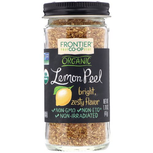 Frontier Natural Products, Organic Lemon Peel, Granules, 1.70 oz (47 g) فوائد