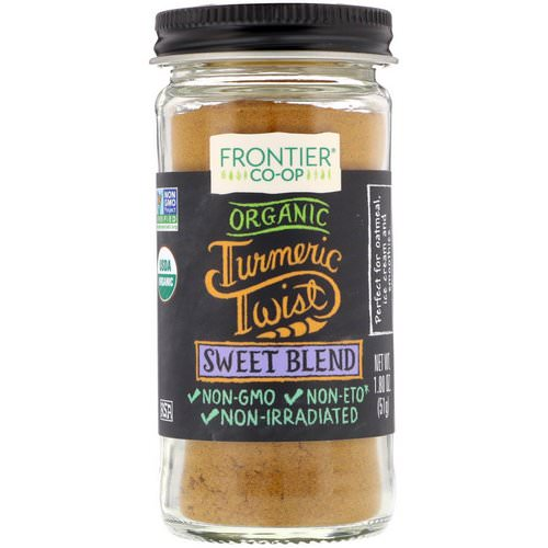 Frontier Natural Products, Organic Turmeric Twist, Sweet Blend, 1.80 oz (51 g) فوائد