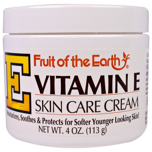 Fruit of the Earth, Vitamin E, Skin Care Cream, 4 oz (113 g) فوائد