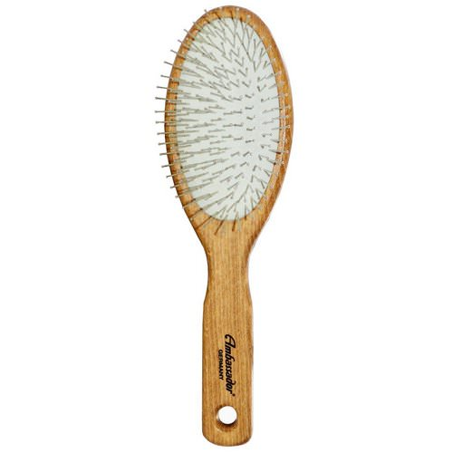 Fuchs Brushes, Ambassador Hairbrushes, Wooden, Large, Oval/Steel Pins, 1 Hair Brush فوائد