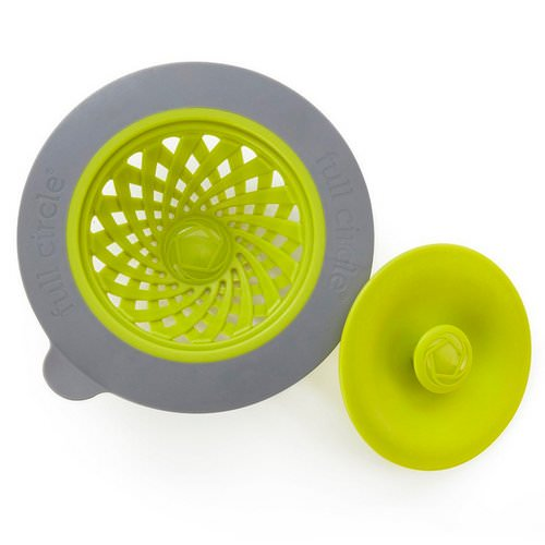 Full Circle, Sinksational, Sink Strainer with Pop-Out Stopper, Green & Slate, 1 Strainer & 1 Stopper فوائد