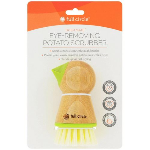 Full Circle, Tater Mate, Eye-Removing Potato Scrubber, 1 Brush فوائد