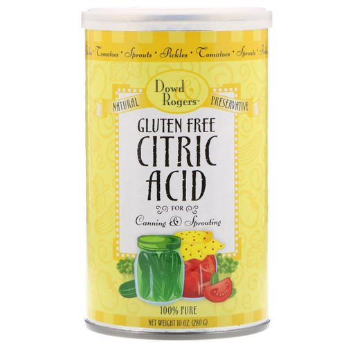 FunFresh Foods, Dowd & Rodgers, Citric Acid, Gluten Free, 10 oz (280 g) فوائد