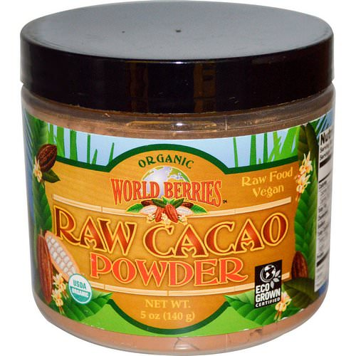 FunFresh Foods, Organic, Raw Cacao Powder, 5 oz (140 g) فوائد
