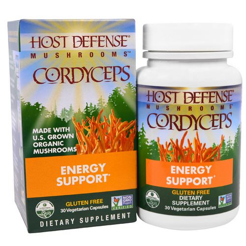 Fungi Perfecti, Mushrooms, Cordyceps, Energy Support, 30 Veggie Caps فوائد