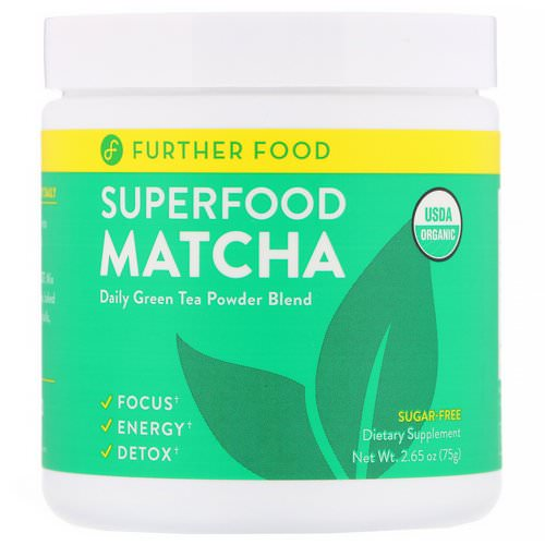Further Food, Superfood Matcha, 2.65 oz (75 g) فوائد