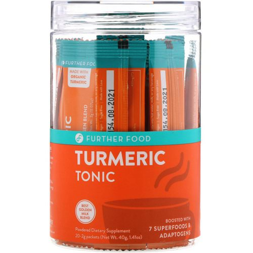 Further Food, Turmeric Tonic, 20 Packets, 0.07 oz oz (2 g) Each فوائد