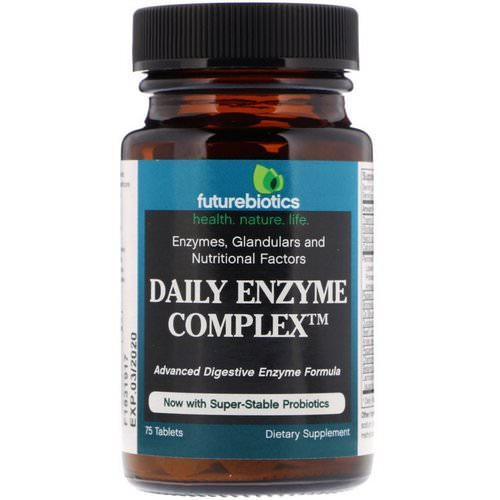 FutureBiotics, Daily Enzyme Complex, 75 Tablets فوائد