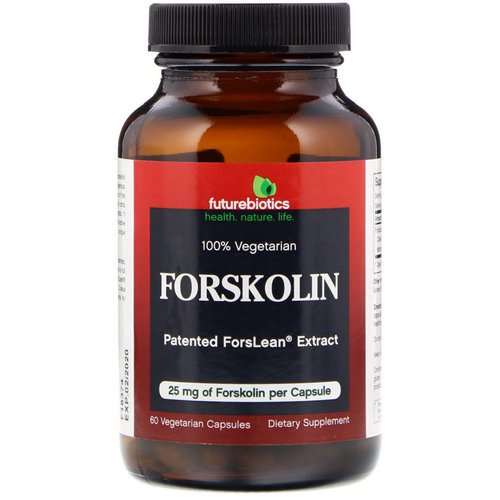 FutureBiotics, Forskolin, 25 mg, 60 Vegetarian Capsules فوائد