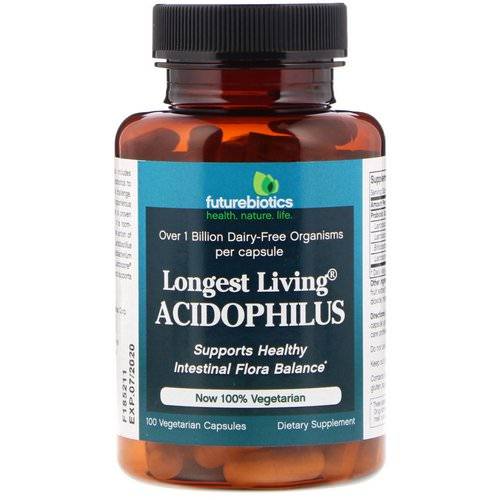 FutureBiotics, Longest Living Acidophilus+, 100 Vegetarian Capsules فوائد