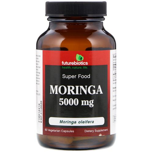 FutureBiotics, Moringa, 5000 mg, 60 Vegetarian Capsules فوائد