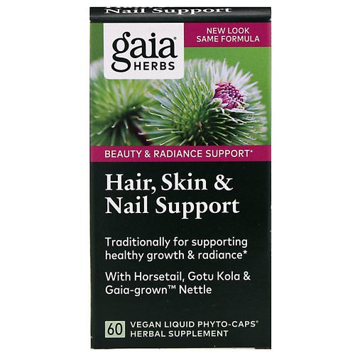 Gaia Herbs, Hair, Skin & Nail Support, 60 Vegan Liquid Phyto-Caps فوائد