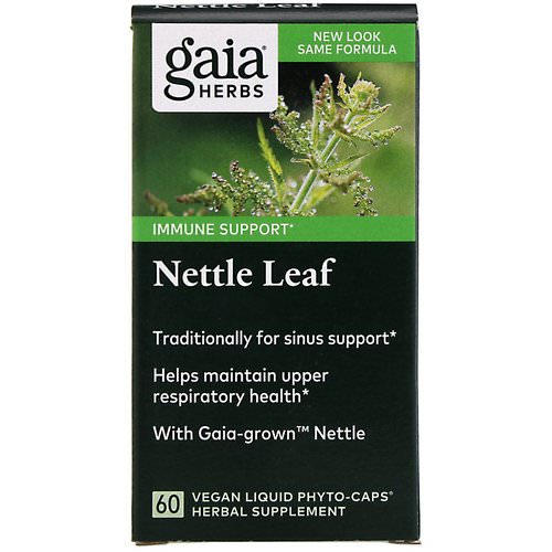 Gaia Herbs, Nettle Leaf, 60 Vegan Liquid Phyto-Caps فوائد