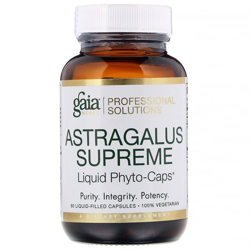 Gaia Herbs Professional Solutions, Astragalus Supreme, 60 Liquid-Filled Capsules فوائد